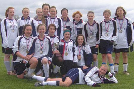 The cup-winning Lichfield Diamonds under 14 team