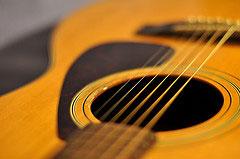 An acoustic guitar. Pic: Balthus Van Tassel