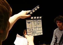 A music video being filmed. Pic:Joar E M Klette