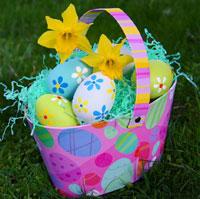 An Easter egg basket