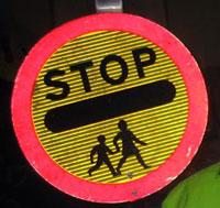 Lollipop crossing sign