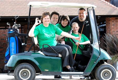 Helen Relihan (St Giles Hospice), Paul Causer (LGCC Membership Manager), Linda Bridges (St Giles Hospice), Gemma Meakin (LGCC Membership Advisor) and Richard Gee (LGCC Manager)