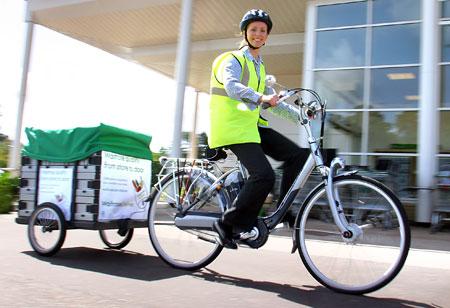 A Waitrose delivery bike