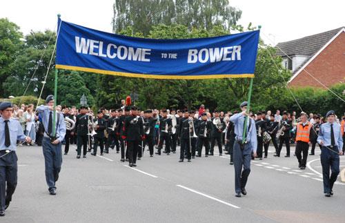 The Lichfield Bower 2009 gets underway. Pic: Harry Warburton