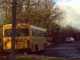 A Staffordshire school bus parked up