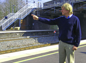 Michael Fabricant MP at Lichfield Trent Valley railway station