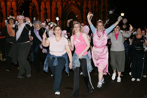 People taking part in the Solstice Walk