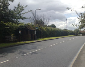 The site of the new crossing in Streethay