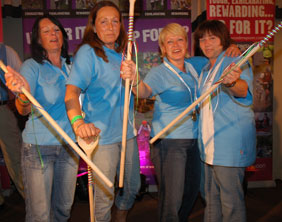 Sian Williams, Dawn Evans, Dawn Slater and Penny Lovely pick up their Wooden Spoon award