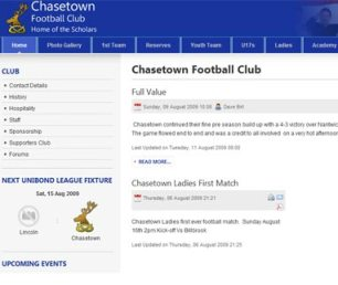 The new Chasetown FC website