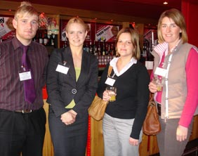 Chris Plant (South Staffs Chamber of Commerce), Louise Richardson (Ansons LLP), Louise Lock and Hannah Pike (Fisher German)