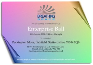 Breathing Spaces Enterprise Ball invite