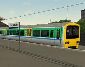 A service at Lichfield City Station on Train Simulator