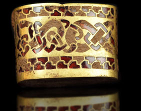 A hilt fitting from the Staffordshire Hoard. Pic: Portable Antiquities