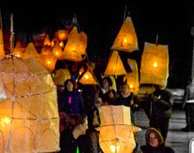 The lantern parade through Lichfield