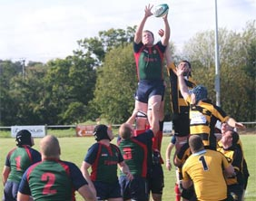 Action from Lichfield's game against Stafford