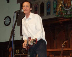 John Otway on stage at the Lichfield Guildhall. Pic: Nick Daws