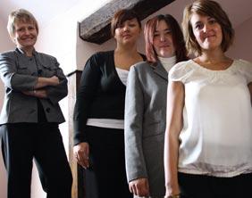 Julie Tomasik, Rebecca Chilton, Amanda Boulton and Angela Smith