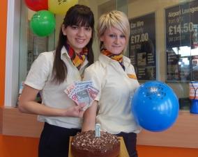 Maria Mora, Travel Consultant and Rachel Banton, Travel Money Advisor from Midlands Co-operative Travel at Boley Park