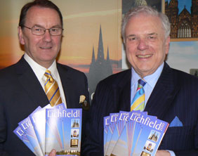 Drayton Manor owner Colin Bryan and Cllr David Smith launch the new guide