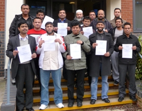 chefs and food managers from Asian eateries who took part in the training