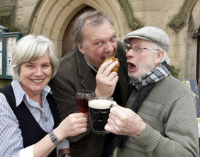 Elaine Davies, Stuart Davies and Brian Pretty. Pic: Robert Yardley
