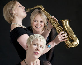 Hazel O'Connor, Clare Hirst and Sarah Fisher