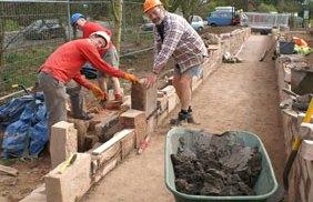 Volunteers working on canal restoration in Lichfield