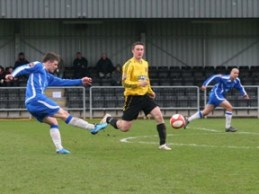 Grant Ryan fires home to make it 2-0 against Belper Town