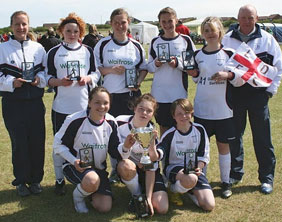 Lichfield Diamonds U14 side with the Filey Cup