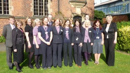 Mark Robertson, Nina Dawes, Jo Darnell and Rita Wilson with members of the Lichfield Connects team