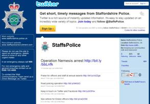 Staffordshire Police's Twitter page