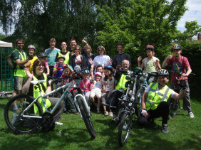 Riders prepare for the first family cycle ride