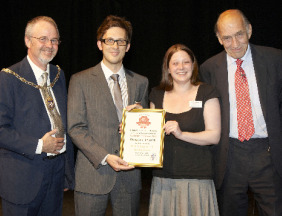 Richard Lewis, Chris Moore, Caroline Evans and General Sir Mike Jackson. Pic: Paul Oakley