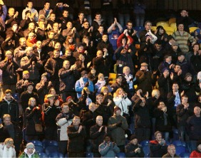 The Chasetown FC supporters. Pic: Dave Birt