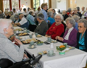 Guests at the tea party hosted by the Mayor and Sheriff of Lichfield