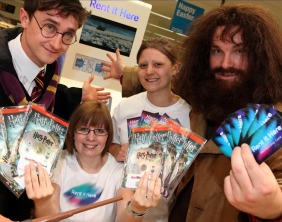 Harry Potter and Hagrid lookalikes in Lichfield