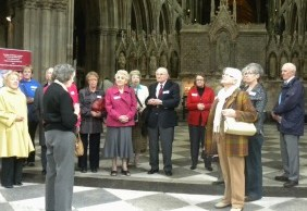 Tour operators visiting Lichfield Cathedral
