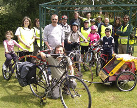 Cyclists who took part in the ride to Fradley