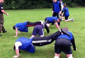 People taking part in the KP Fitness military-style training session
