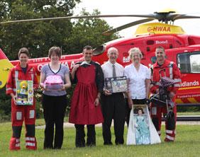 Midlands Air Ambulance staff and volunteers