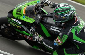 Gary Mason on the MSS Colchester Kawasaki 2012 bike