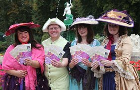 Emily Robinson, Jonathan Oates, Jo Wilson and Alison Wallis prepare for the Heritage Weekend