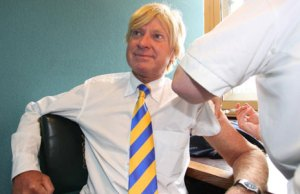 Michael Fabricant MP receives his flu jab