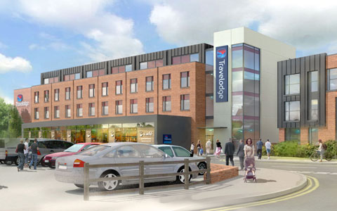 An artist's impression of the new Travelodge in Lichfield