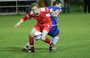 Chasetown's Mark Hands gets away from his marker. Pic: Dave Birt
