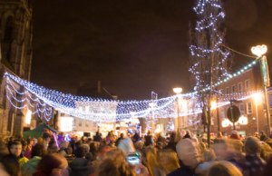 The Christmas lights go on in Market Square