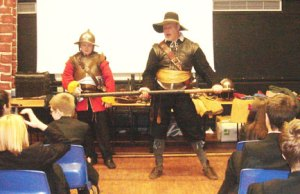 The Civil War demonstration at Nether Stowe School