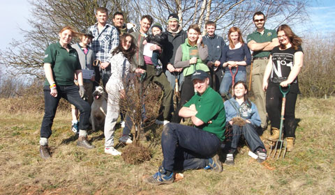 Some of the tree planting volunteers