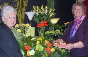Secret Garden owner Sandra Shaw with chair of Lichfield Mysteries Ros Hallifax